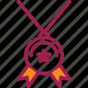 achievement, award, badge, medal, prize, ribbon, winner