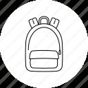 backpack, bag, rucksack, school