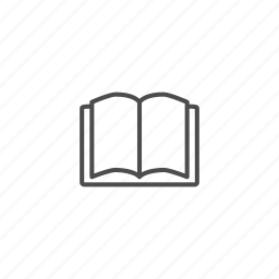 book, line, outline, school icon