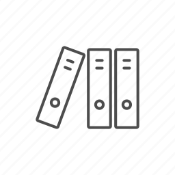 document, line, outline, school icon