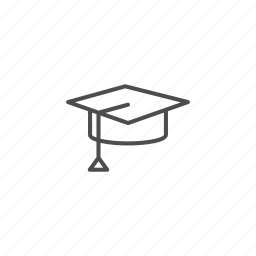 graduation, line, outline, school, university icon