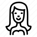 avatar, doodle, face, girl, schoolgirl icon