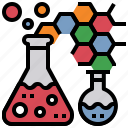 chemistry, education, graph, science, test, tube icon