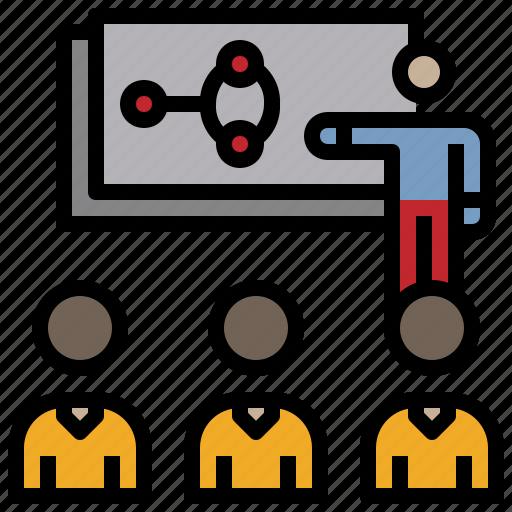 business, people, presentation, training, work icon