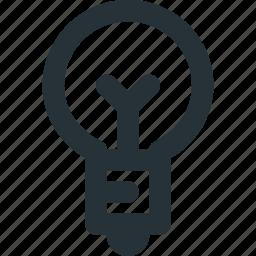 bulb, furnishing, ideas, light, lighting icon