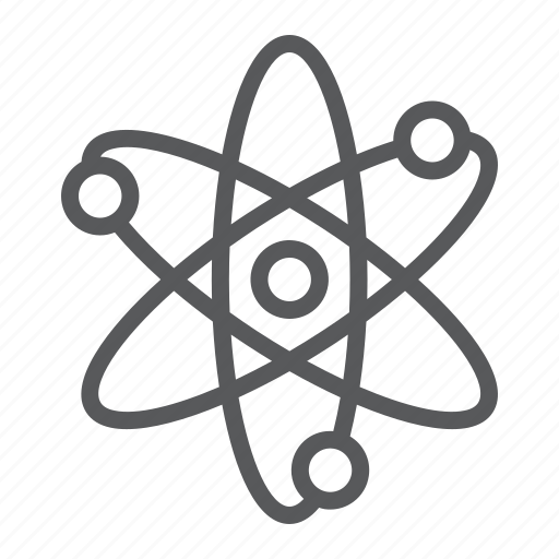 atom, biology, education, nuclear, physics, school, science icon