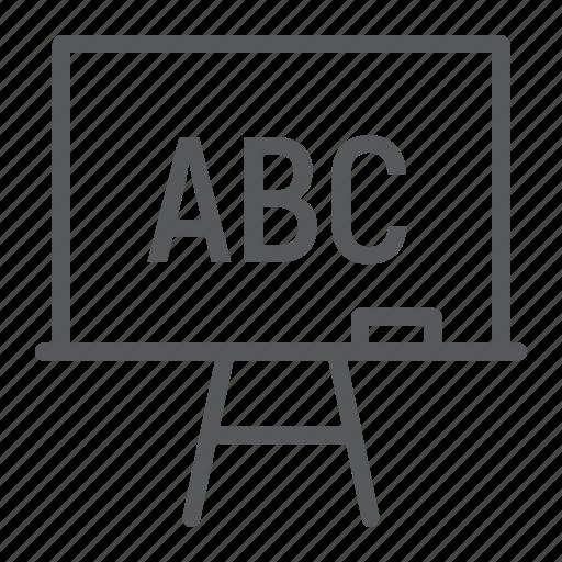 blackboard, board, chalk, education, lesson, school, stand icon