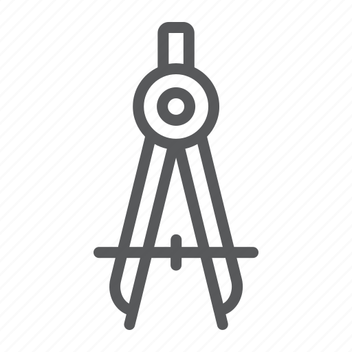 Architect, compass, divider, drawing, education, geometry, school icon - Download on Iconfinder