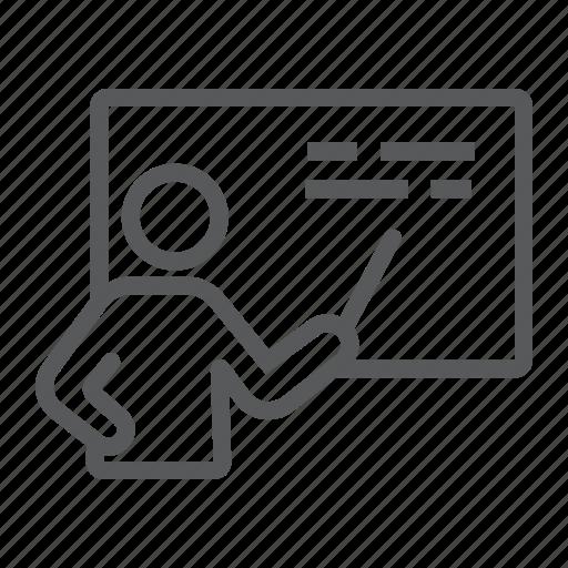 Education, presentation, school, seminar, teacher, training icon - Download on Iconfinder