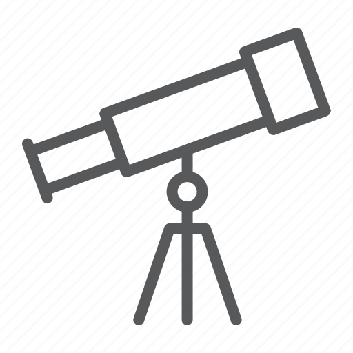 app, astronomy, education, magnify, school, science, telescope icon