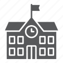 architecture, building, college, education, school, university icon