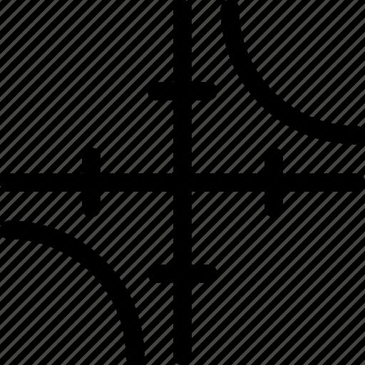 axis, education, hyperbola, math, mathematics icon