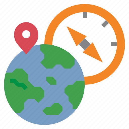 compass, geography, grid, location, worldwide icon