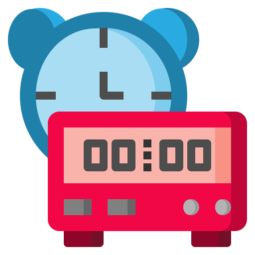 alarm, clock, date, time, timer, tools icon
