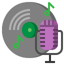 microphone, radio, recording, sound, technology, vintage, voice icon