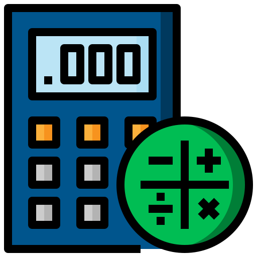 business, calculating, calculator, finance, maths, technological icon
