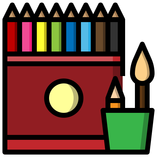 case, education, material, office, pencil, school, writing icon