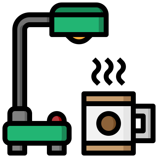 desk, education, electronics, lamp, material, office, study icon