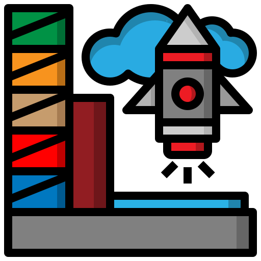 launch, rocket, ship, space, transport icon