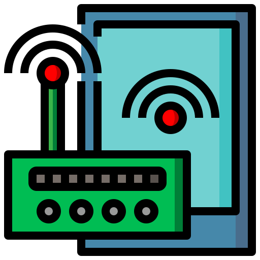 modem, router, seo, signal, web, wifi icon