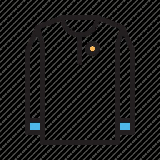 clothes, long, school, shirt icon
