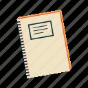 book, exercise book, homework, notebook, school, school subject, subject icon