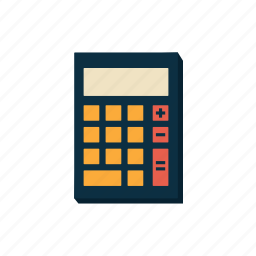 calculating, calculator, education, learning, math, mathematics, school icon