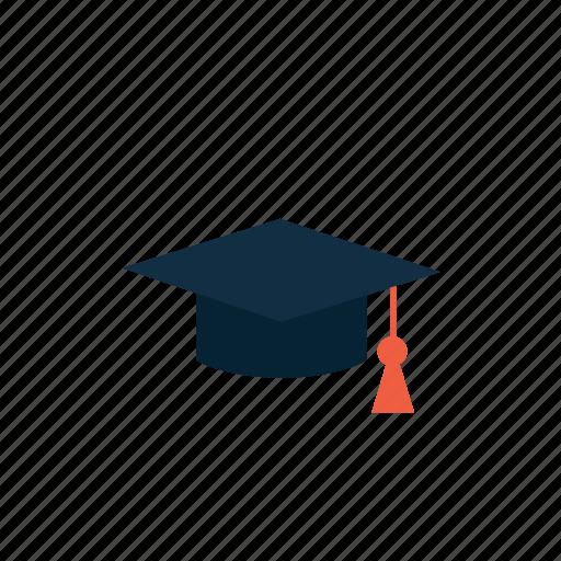 graduation, graduation hat, hat, high school, last day, study hat, university icon