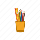 pencil in a jar, pencil in a pot, pencils icon