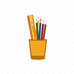 pencil in a jar, pencil in a pot, pencils icon