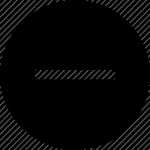 line, negative, neutral, subtract icon