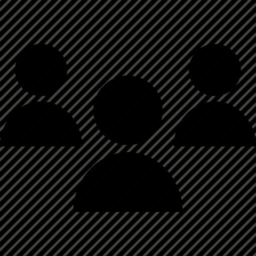 staff, students, three, users icon