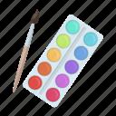 art, gouache, paint, paintbrush, painting, watercolor icon