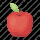 apple, food, fruit, vitamin icon