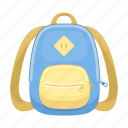 backpack, bag, briefcase, satchel, schoolbag