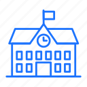 building, learning, school, study icon