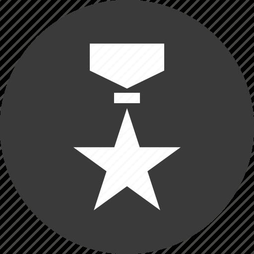 award, awarded, honor, medal, star icon