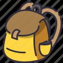 backpack, bag, school icon