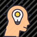 bulb, idea, smart, think icon