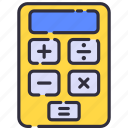 accounting, calculation, calculator, math, mathematic, school icon
