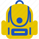 backpack, bag, education, flat, office, sling bag icon