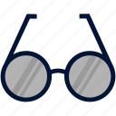 education, eye, eyeglasses, flat, glass, glasses, myopia icon