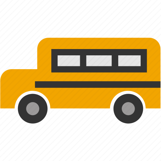 bus, bus school, education, flat, transport, travel icon