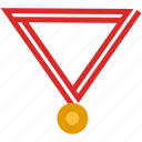 achievement, award, bonus, education, flat, medal, winner icon