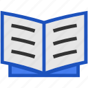 book, bookmark, education, exam, flat, library, paper, read icon