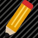 education, flat, pen, pencil, school, write icon