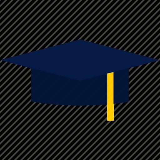 college, education, flat, graduation, graduation cap, hat, university icon