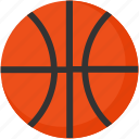 ball, basketball, education, flat, game, sport icon