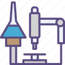 chemistry, experiment, lab, laboratory, microscope, research, science icon
