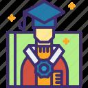 cap, certificate, college, diploma, graduation, university